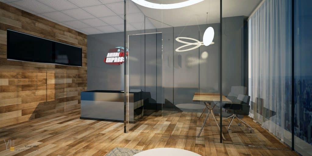 עיצוב משרדי americar-express