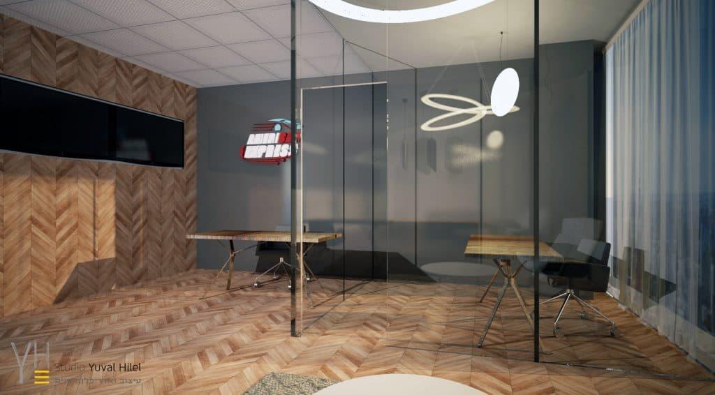 עיצוב משרד- אמריקאר אקספרס