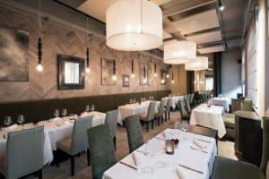 interior modern upmarket restaurant